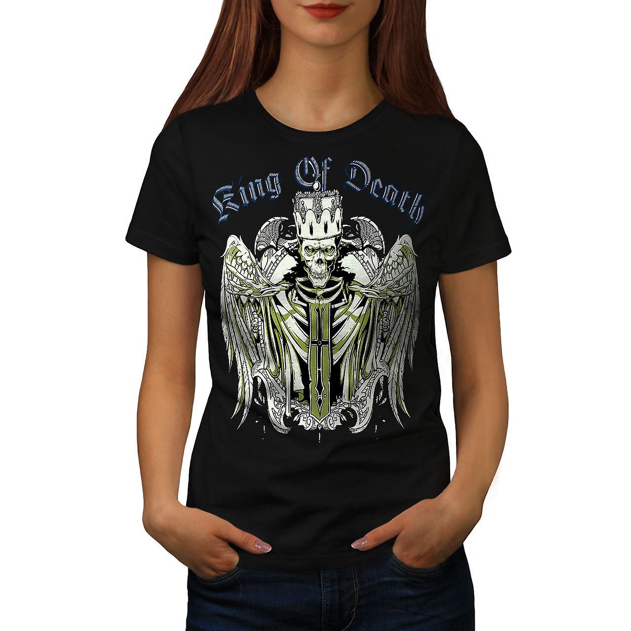 King Of Death Devil Skull Women Black T-shirt | Wellcoda