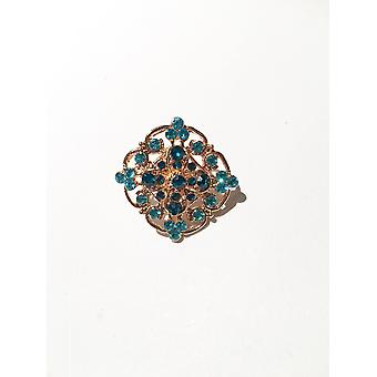 Gold and Blue Brooch