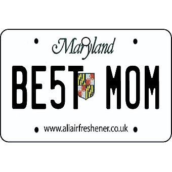 Maryland - Best Mom License Plate Car Air Freshener