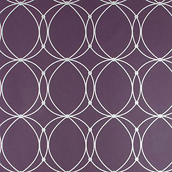 Graham & Brown Purple Wallpaper Roll - Home Flat Darcy Design - Colour: 57216