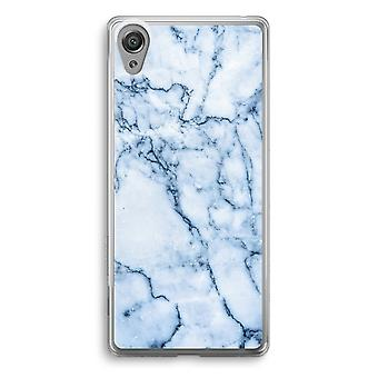 Sony Xperia XA1 Transparent Case - Blue marble