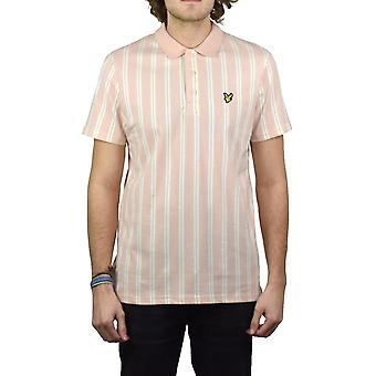 Lyle & Scott Deckchair rayas camisa de Polo (polvo de color rosa)