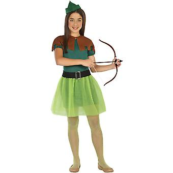 Trajes de los niños niñas traje de las muchachas de Robin Hood
