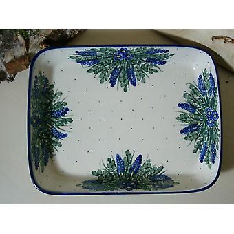 Dish / casserole, 19 x 24 x 4 cm, unique 45 - boleslawiec aardewerk - BSN 6594