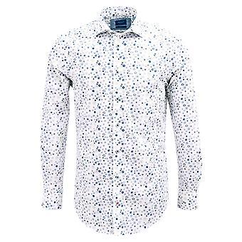 Tresanti Blue Flower Print Mens Shirt