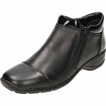 Rieker schwarz Stiefeletten Leder 58374-00