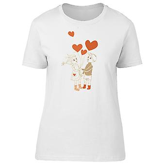 Children With Heart Balloons Tee Women's -Image by Shutterstock