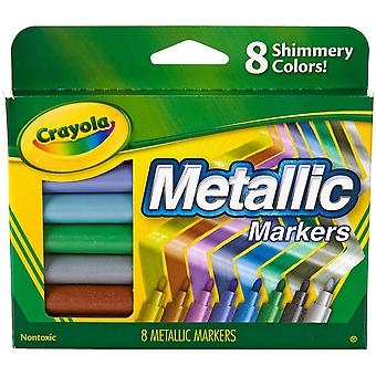 Crayola Metallic Markers-Shimmery Colors 8/Pkg
