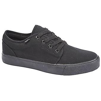 Mens 4 Eye Lace Up Canvas Casual Smart Deck Trainers Shoes