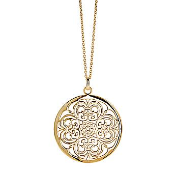 Orphelia Silver 925 Chain With Pendant Big Circle Goldplated  ZH-6034/2