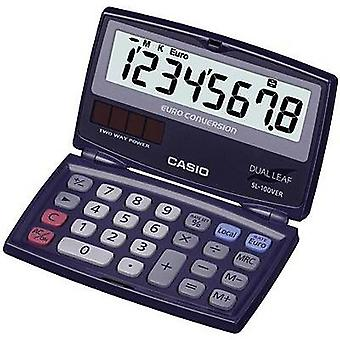 Casio SL-100VER Pocket calculator Blue Display (digits): 8 solar-powered, battery-powered (W x H x D) 91 x 9.4 x 110.5 mm
