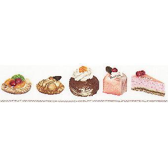 Cake Assortment On Aida Counted Cross Stitch Kit-18.5