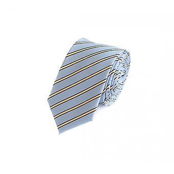 Tie cravate cravate 6cm Hel bleu jaune noir rayé Fabio Farini