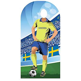 World Cup 2018 Sweden Football Cardboard Cutout Stand-in