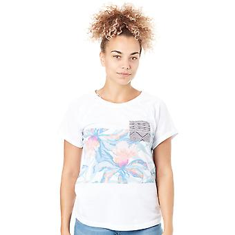 Rip Curl White Graphic Womens Pocket T-Shirt