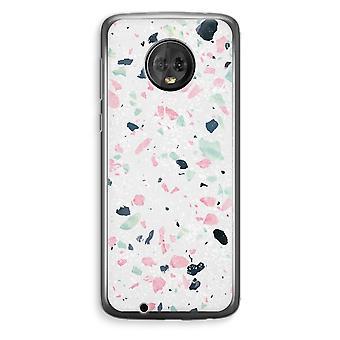 Motorola Moto G6 Plus Transparent Case (Soft) - Terrazzo N°3