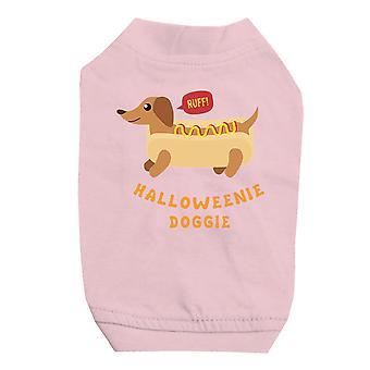 小型犬用 Halloweenie わんわんピンク ペットのシャツ