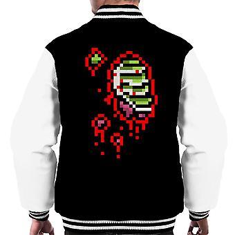 Zombie Half Guts 8 Bit Men's Varsity Jacket