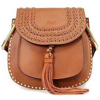Chloe Hudson Calfskin Shoulder Bag   Caramel with Gold Hardware