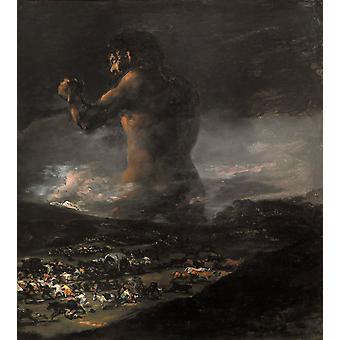 El Coloso, Francisco de Goya, 60x50cm