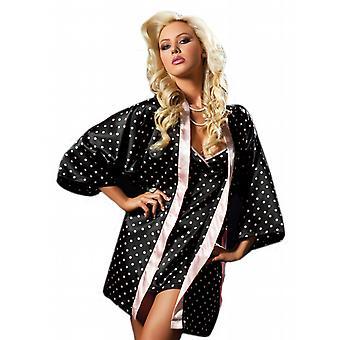 Waooh - Lingerie - set chemise e kimono accappatoio ai piselli