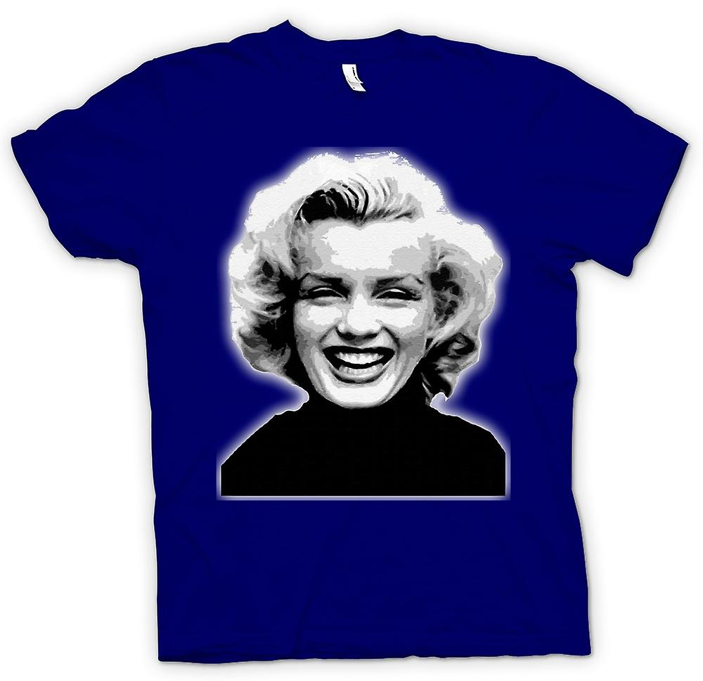 Heren T-shirt - Marilyn Monroe - BW - pictogram