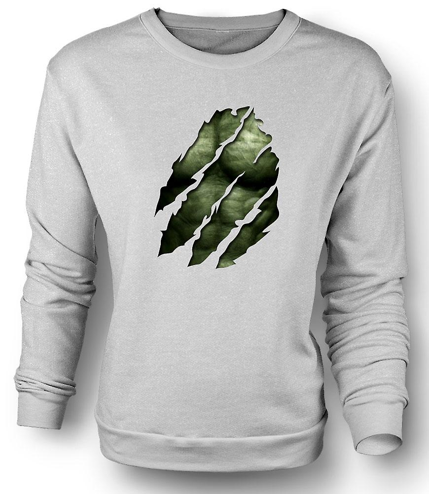 Mens Sweatshirt The Hulk - Ripped Effect