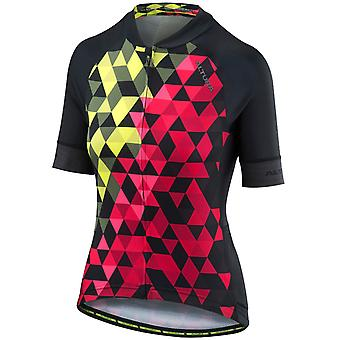 Altura Yellow-Red 2018 Peloton Womens Short Sleeved Cycling Jersey