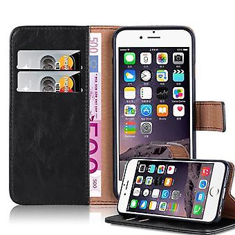 Cadorabo case for Apple iPhone 6 PLUS / cover of iPhone 6S PLUS - mobile case in the luxury design with card holder and stand function - case sleeve pouch bag book