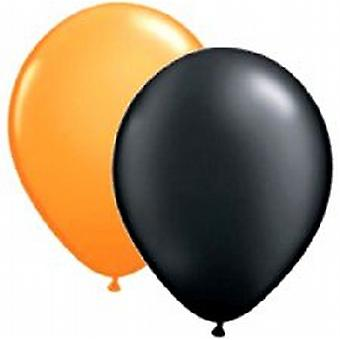 "Balloons Standard 12"" Orange and Black"