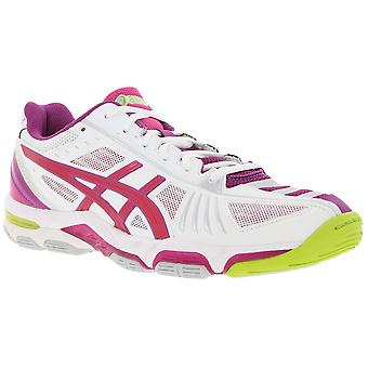 Asics Gel VOLEY elite 2 shoes padded Womens Volleyball Shoes white/purple