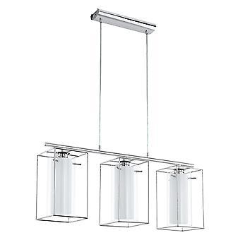 Eglo - Loncino 1 Triple vidrio y cromo marco colgante EG94378