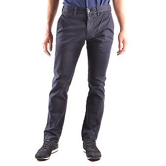Stone Island Blue Cotton Pants