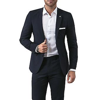 Avail London Mens Navy Suit Jacket Slim Fit Notch Lapel