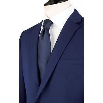 ・ ドベル メンズ ダークブルーのスーツ ジャケット合わせてフィット ノッチ襟