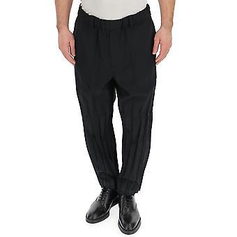 Issey Miyake schwarz Polyester Hose