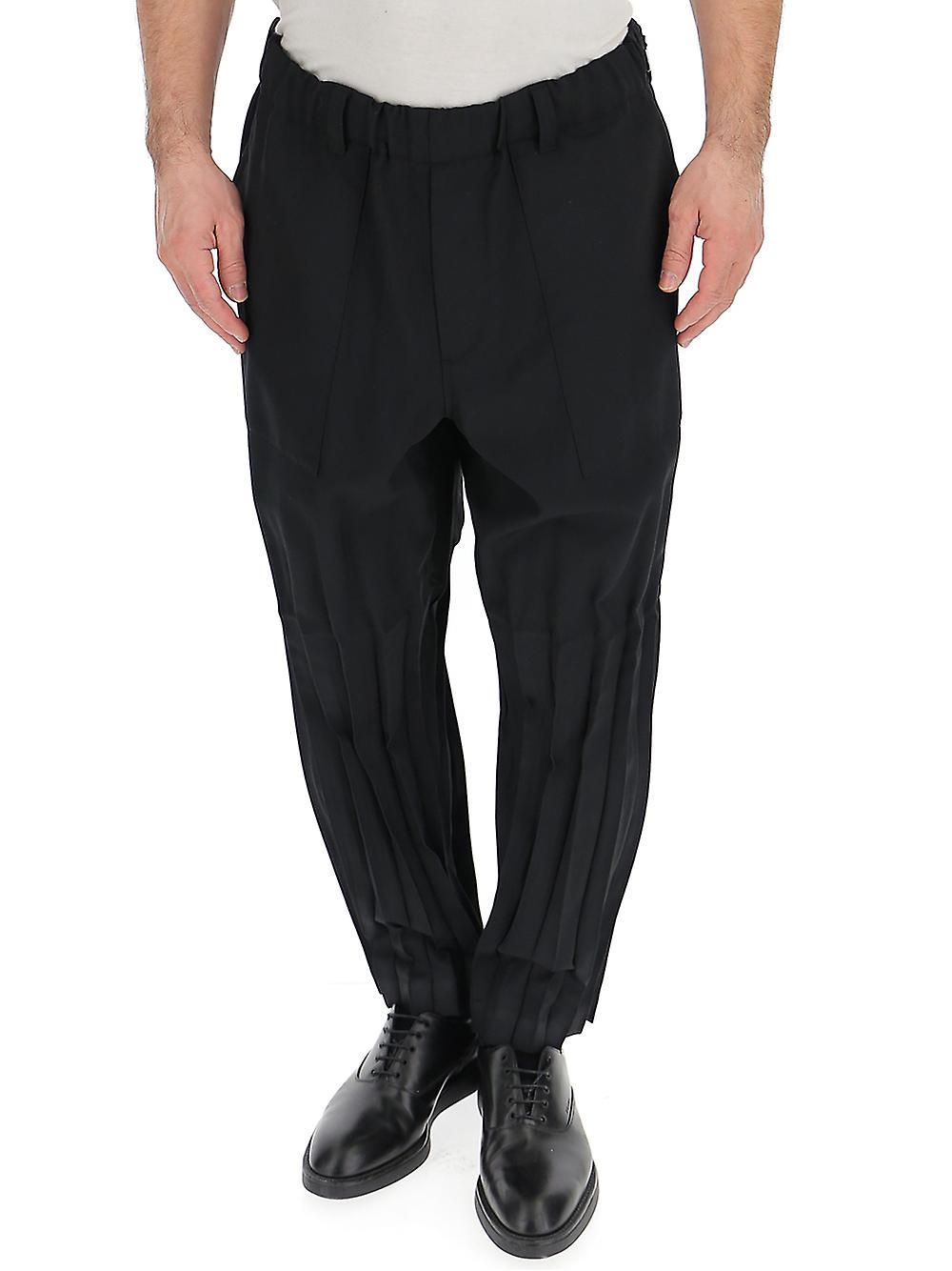Issey Miyake Black Polyester Pants