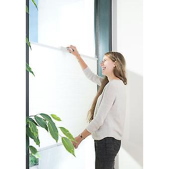 Sonnenschutz-plissee mit Saugnapf weiss max. 100 x 130 cm