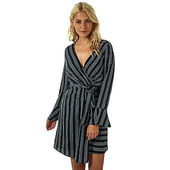 Womens Vero Moda Nicky Long Sleeve Dress In Night Sky / Snow White