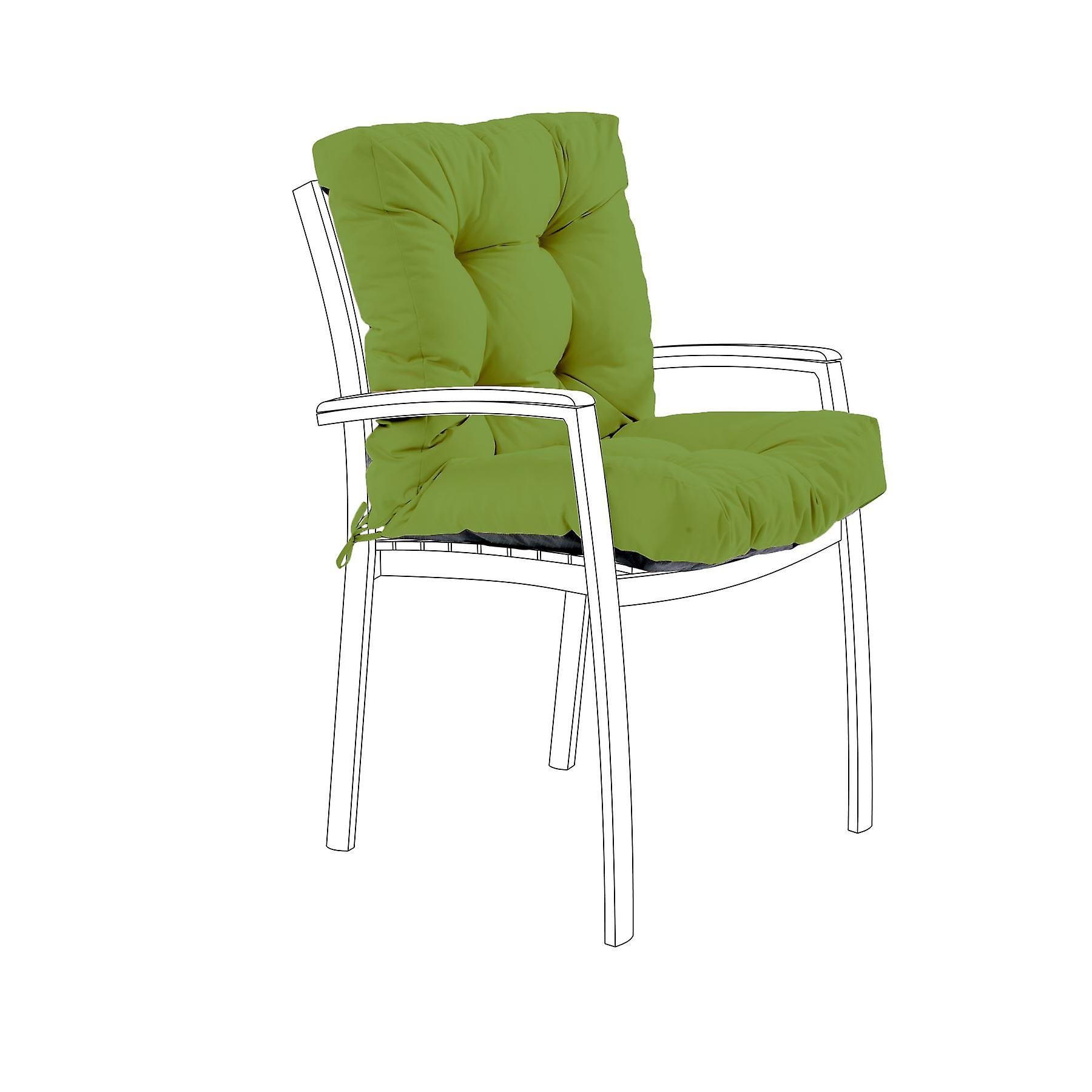 Gardenista® Water Resistant English Ivy Tufted Two Part Chair Cushion