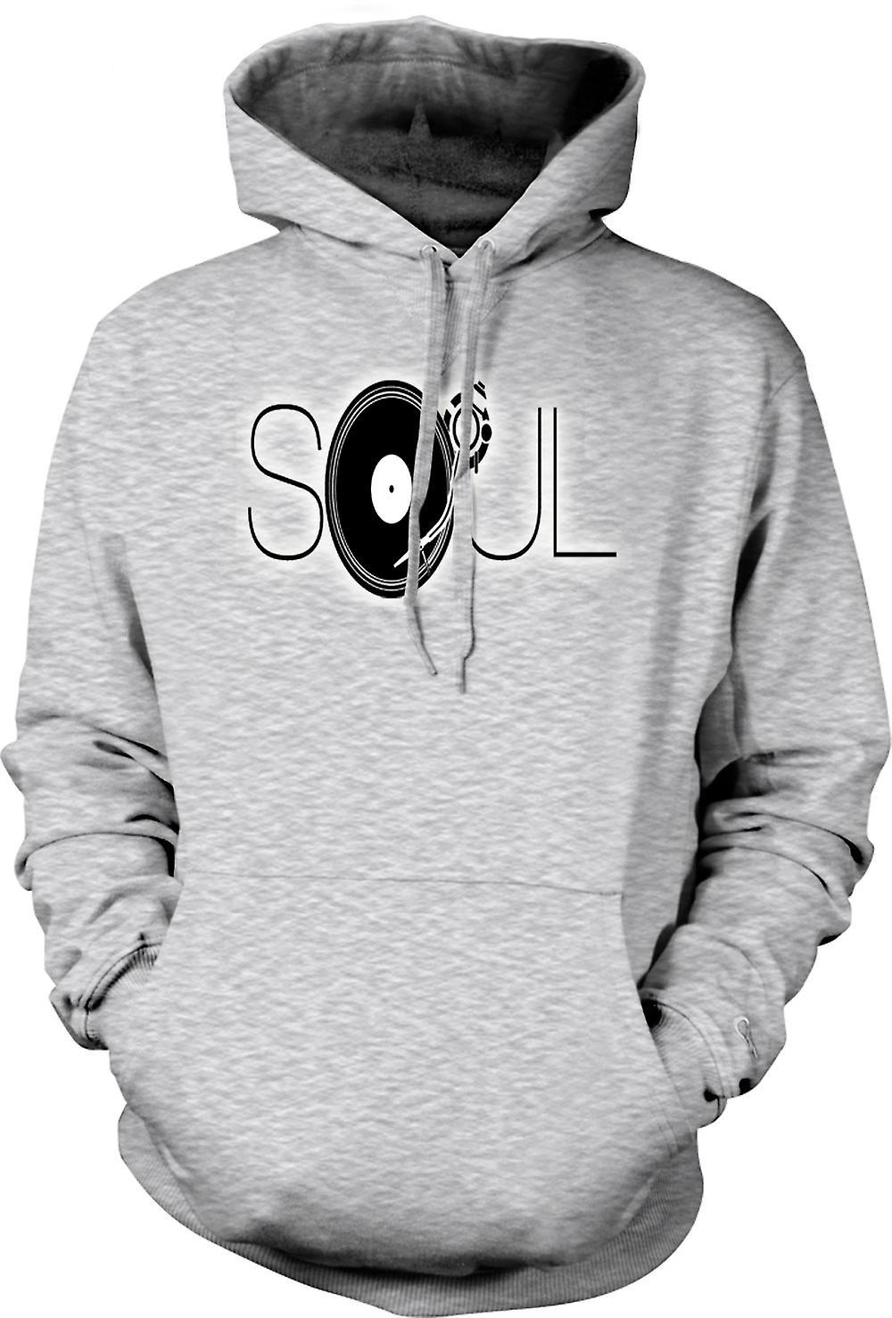 Mens Hoodie - Soul - Retro Music DJ