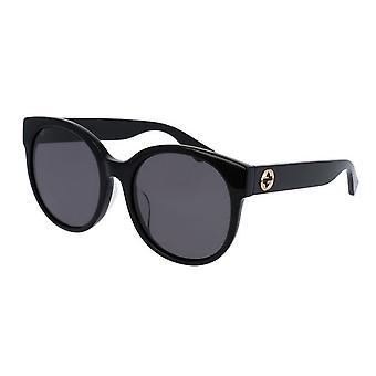 Gucci-schwarz Runde Damen Sonnenbrille - GG0035SA-001