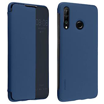 Huawei P30 Lite Folio Smart View Full Protection Cover Original Huawei Dark blue