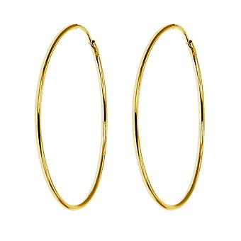 De Olivia collectie Laides, heren, Children's 9ct Yellow Gold 22mm hoepel Tube Sleeper oorbel-1 paar