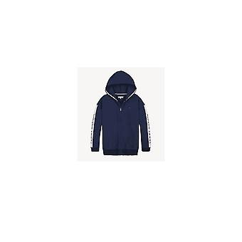 Tommy Hilfiger Girls Tommy Hilfiger Girl's Navy Tape Through Logo Hooded Tracksuit