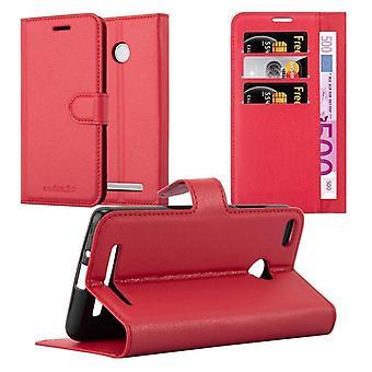 Cadorabo Hülle für Red Mi 3S Case Cover - Handyhülle mit Magnetverschluss, Standfunktion und Kartenfach – Case Cover Schutzhülle Etui Tasche Book Klapp Style