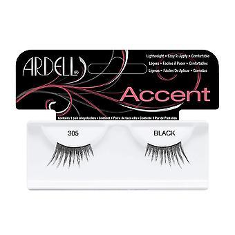 Ardell Accent 305 Black Easy To Apply Full False Eye Lashes