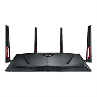 Asus rt-ac88u wireless router dual-band 3.167 mbps switch 8-port rj-45 integrated black color