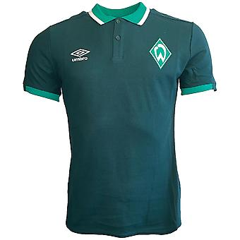 2019-2020 Werder Bremen Umbro CVC Polo Shirt (Green)