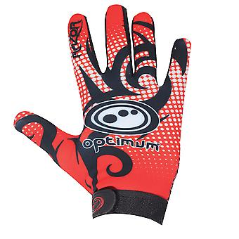 Optimum Velocity Razor Full Finger Thermal Rugby Glove Noir/Rouge